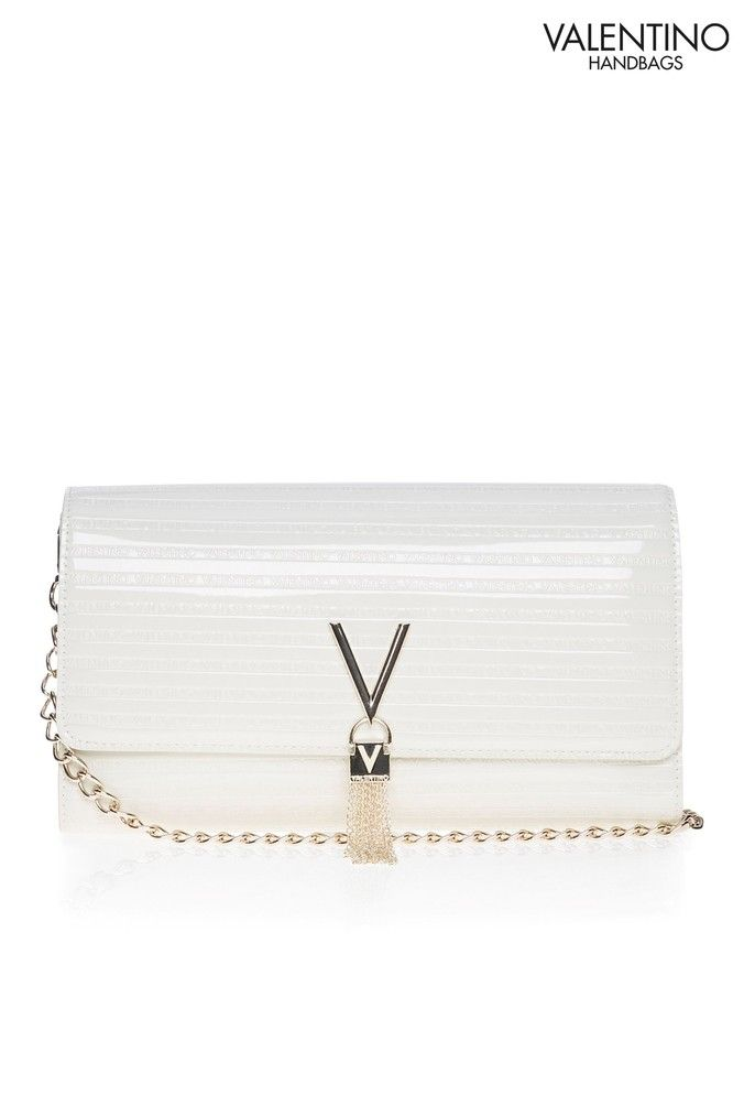 2ea4945d411 Womens Mario Valentino Clutch Bag - White in 2019 | Products | White ...