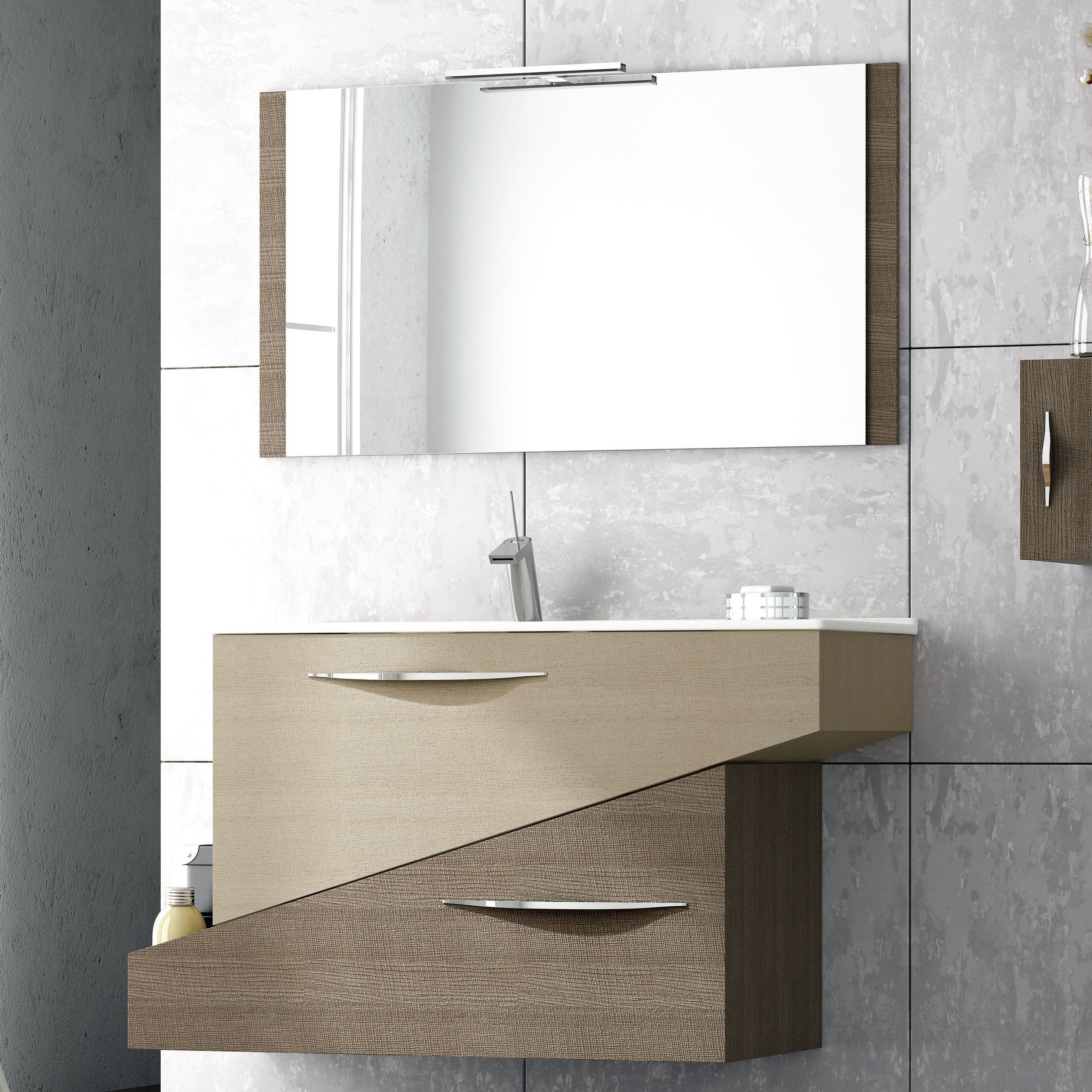 Abella 38 Inch Modern Single Sink Bathroom Vanity Set With Mirror Waschbeckenunterschrank Badezimmer Waschtische Badezimmer
