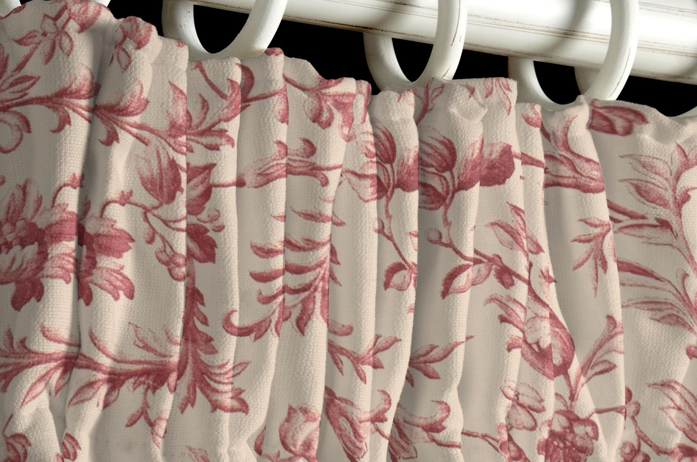 Ironwork Scroll Cranberry Curtains Made To Order