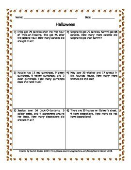 Halloween Math | Classroom: Math | Pinterest | Halloween math, Word ...