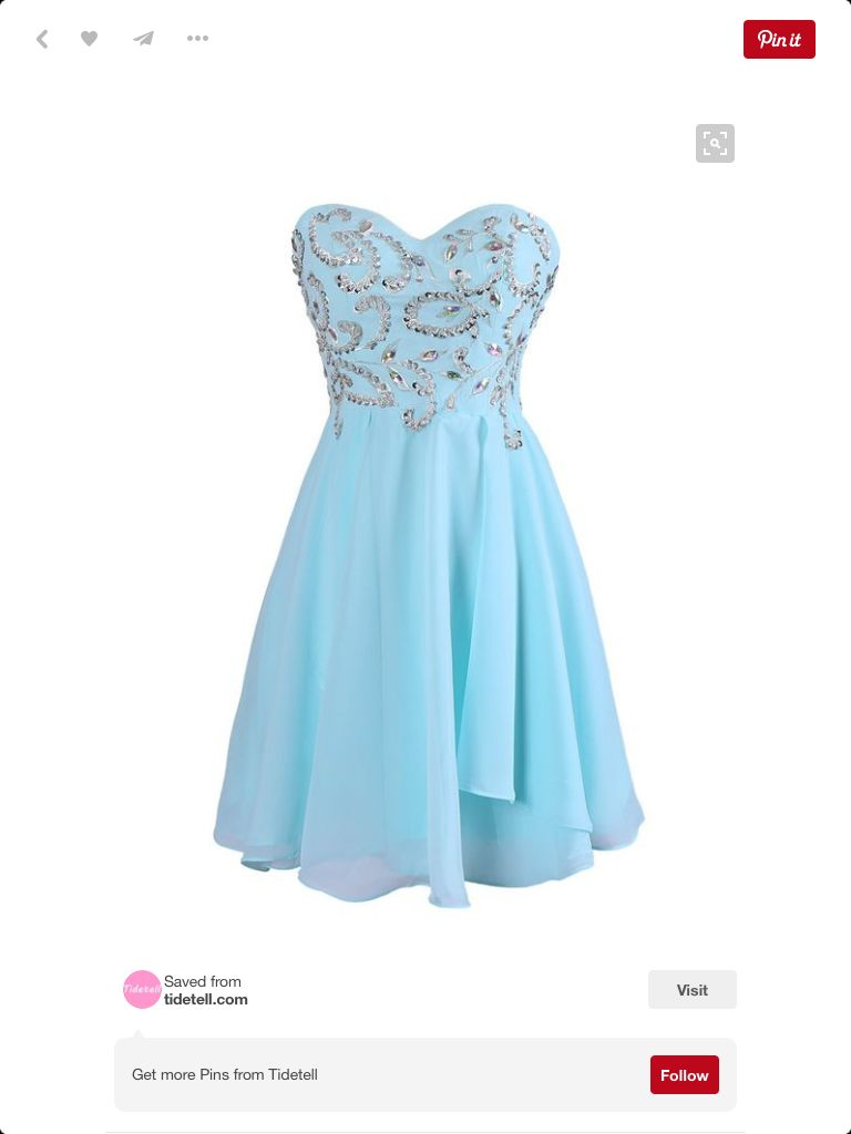 Light blue dress for wedding  Pin by Dez on Hoco ideas  Pinterest