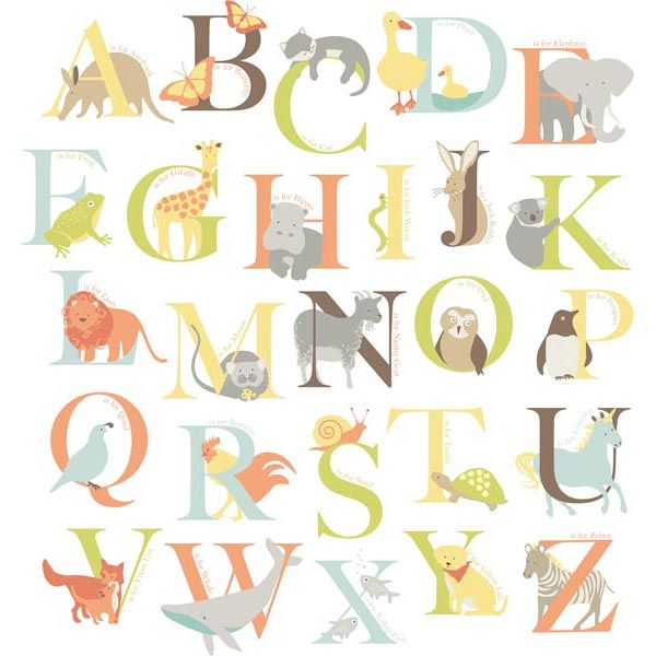 A Beautiful Alphabet Wall Decal Set Perfect For Clsroom Decor Zoo Kit Decals Wallpops Baby L And Stick Art