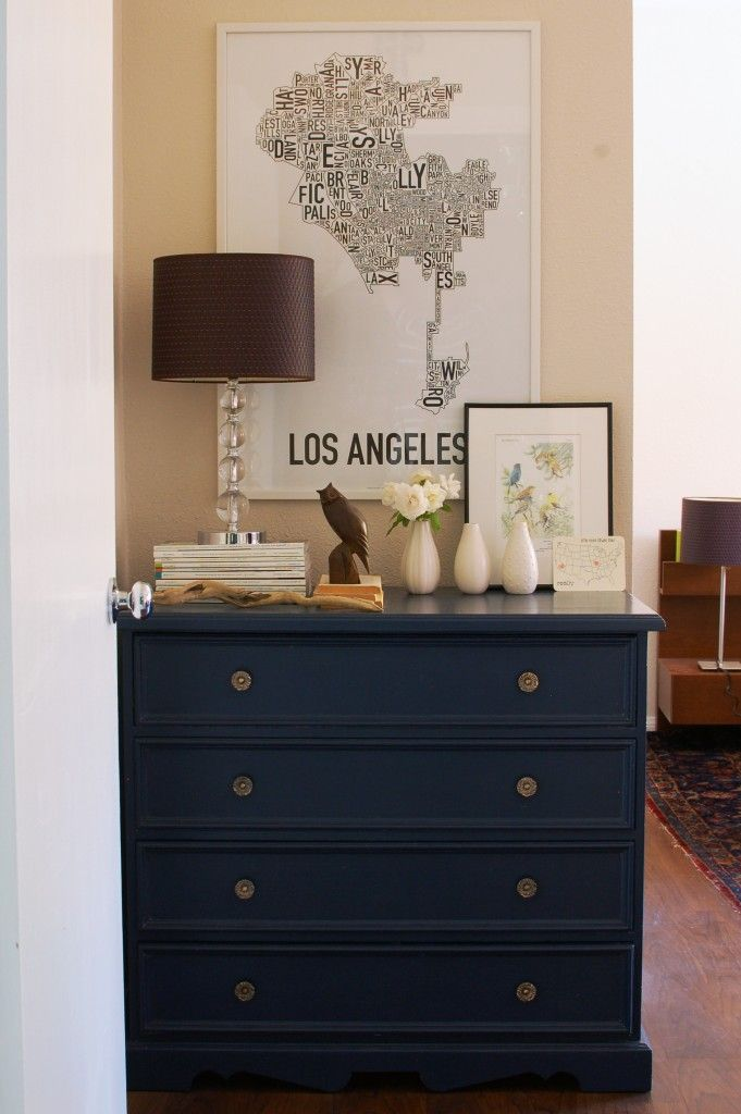 Pin On Diy Bedside, Navy Blue Furniture Paint
