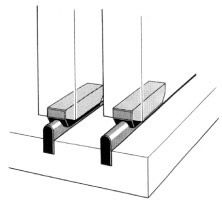 Sliding Kitchen Cabinet Door Hardware fibre track & glide for wood doors | building ideas | pinterest