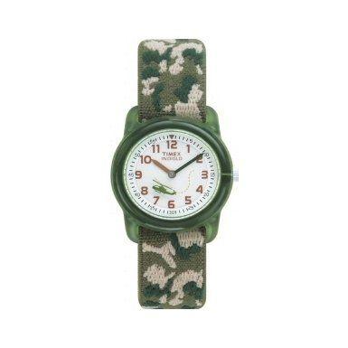 Timex Kids' T78141 Analog Camo Elastic Fabric Strap Watch at SuliasZone
