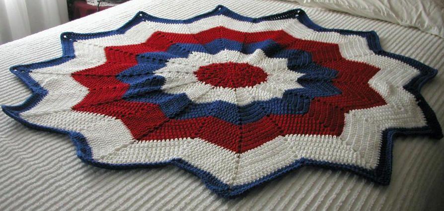 My star blanket - Crochet creation by Edna