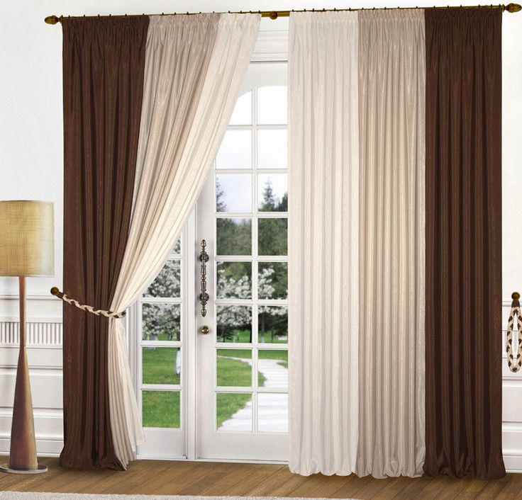 White And Chocolate Curtains Brown Curtains Curtains Living