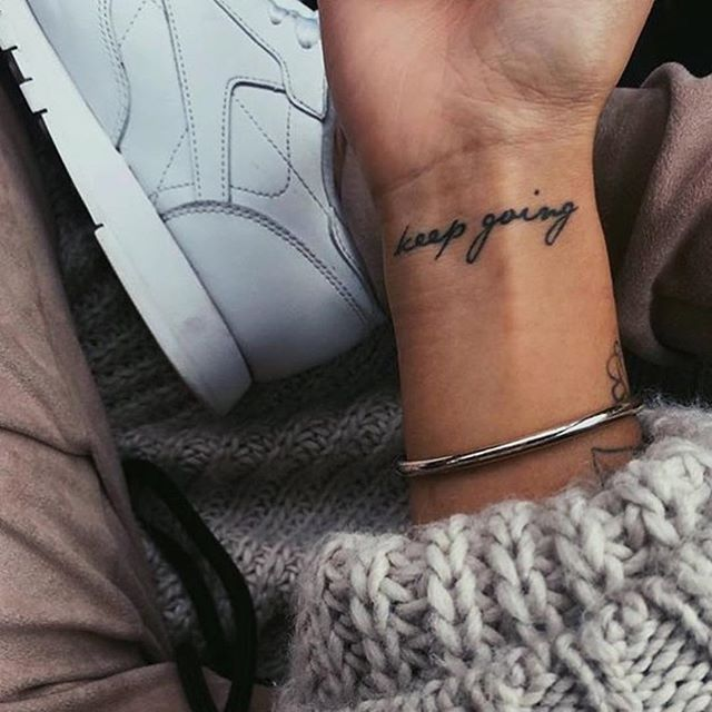 Keep. Going. #tattoo #tattoos #littletattoos #keepgoing