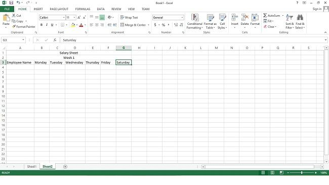 Employee Salary Sheet  Excel Tutorial