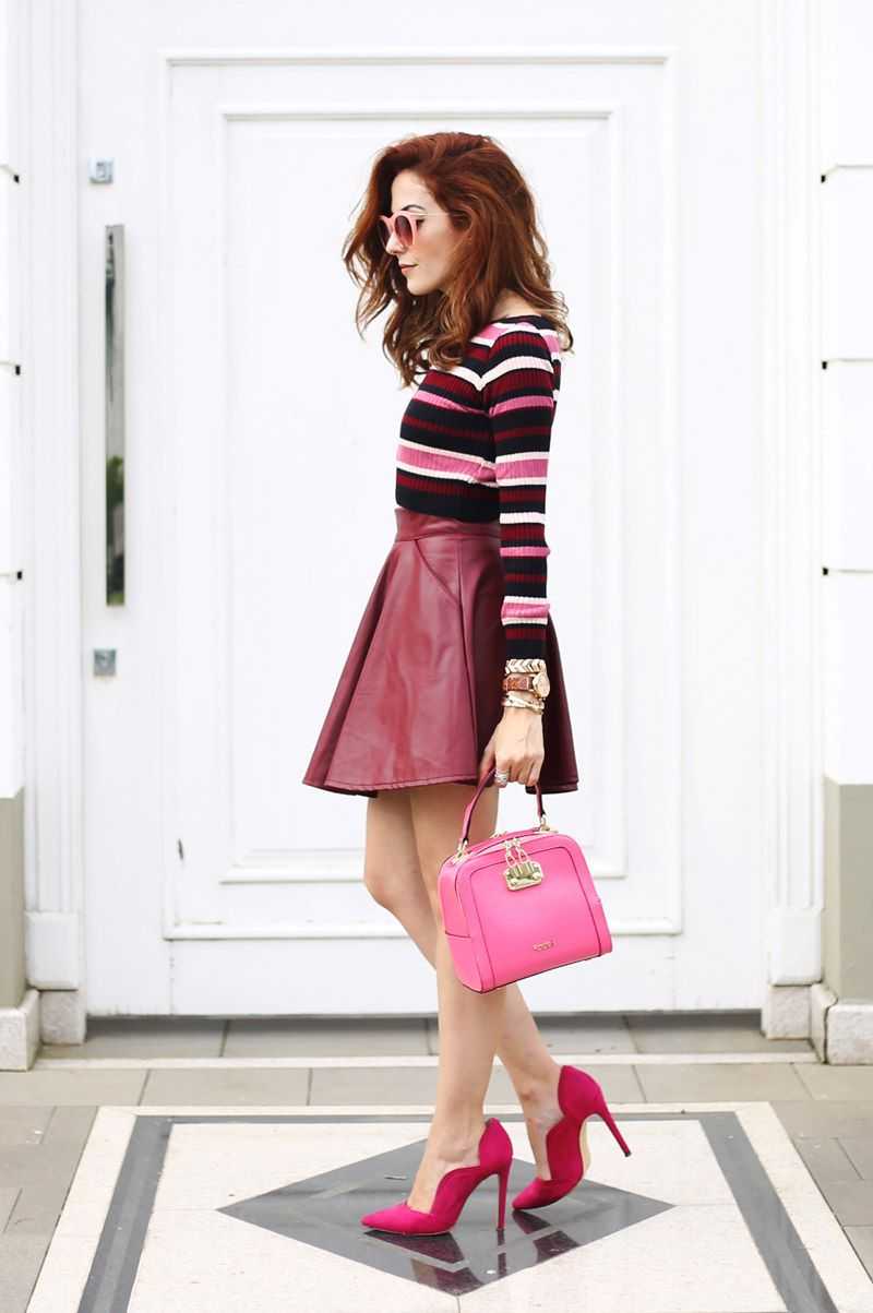Trying some new colours for autumn and I love the mix of burgundy and pink.  Chose a gorgeous skirt 61556e41c