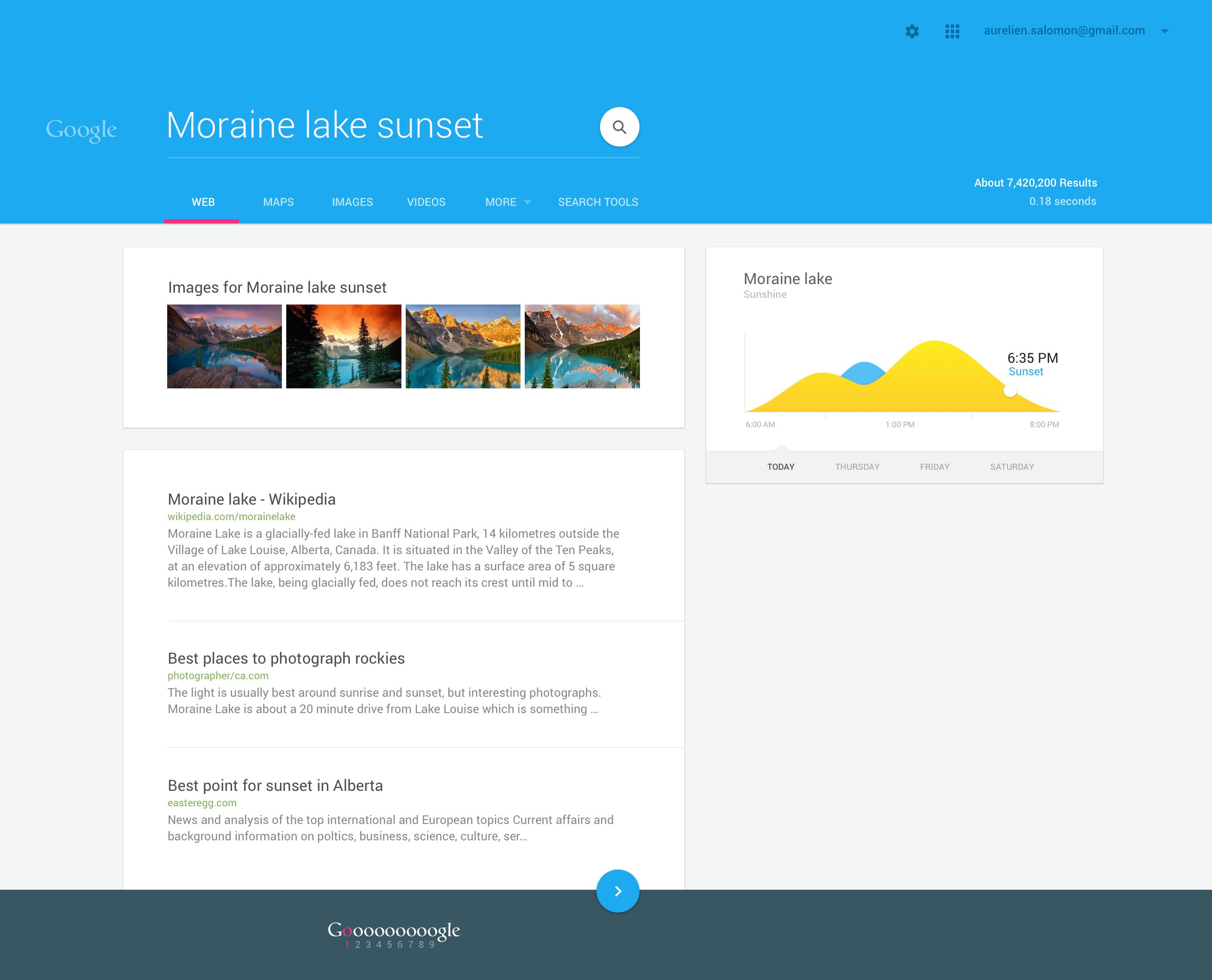 Google - Material exploration | Design: Picked-up UI