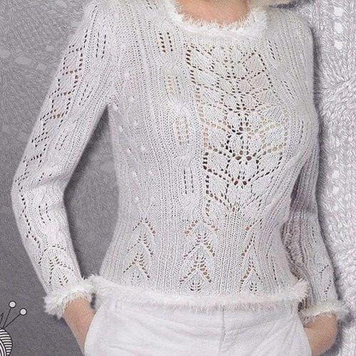 вязание белой кофточки