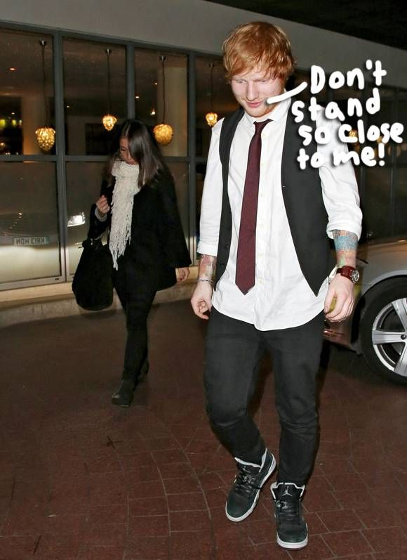ed sheeran grabs a midnight snack with his rumored gf