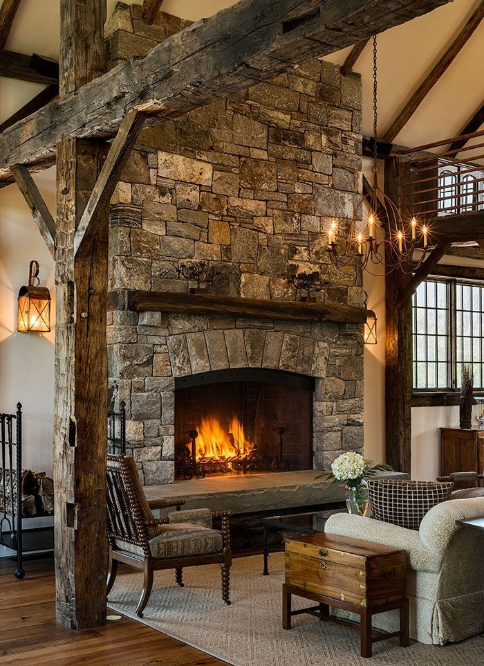 Classical Stone Fireplace With Nice Interrior Designed House Livingroom Handmade Design Decor Designideas Beauty Beautiful Luxu Cozy Warm In 2019 Home Fireplace Farmhouse Fireplace Rustic Fireplaces