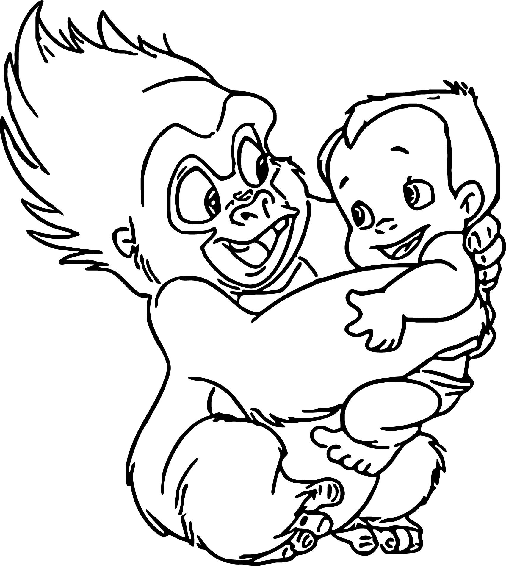 Disney Baby Tarzan Coloring Pages | Colorear, Negro y Blanco