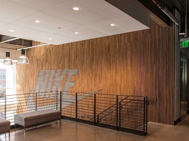 Nike Wood Feature Wall