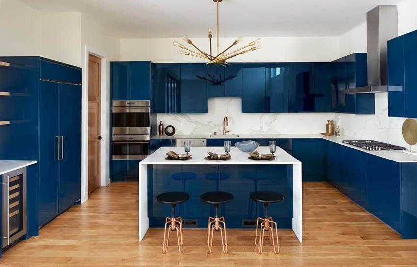 33 Blue And White Kitchens Design Ideas White Modern Kitchen Glossy Kitchen Navy Blue Kitchen Cabinets
