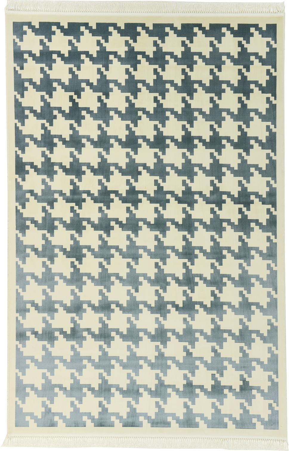 Ivory 198cm X 302cm Hahnentritt Teppich | Bereich Teppiche | IRugs CH