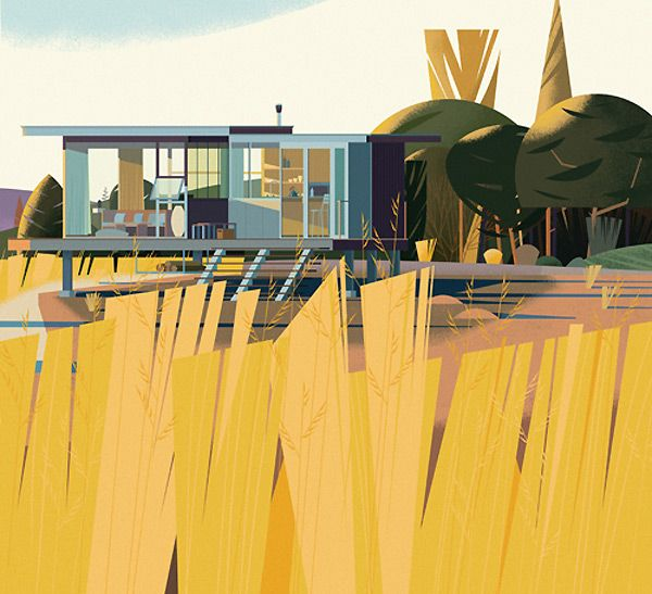Picture Book Illustration Making An Architectural Model: Illustrator: Marie-Laure Crushi (aka Chruschiform