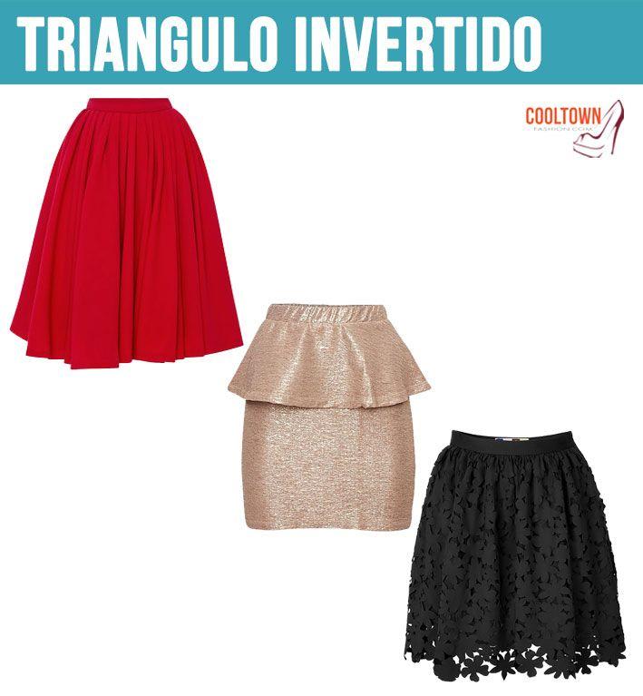 ba0754a40 faldas que favorecen tu cuerpo! (triangulo invertido)   Prendas de ...