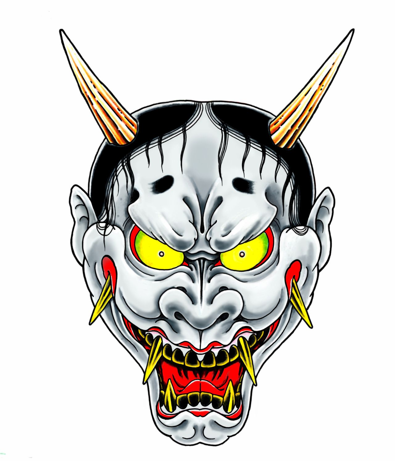 I'd love to base my next character model off this Hannya