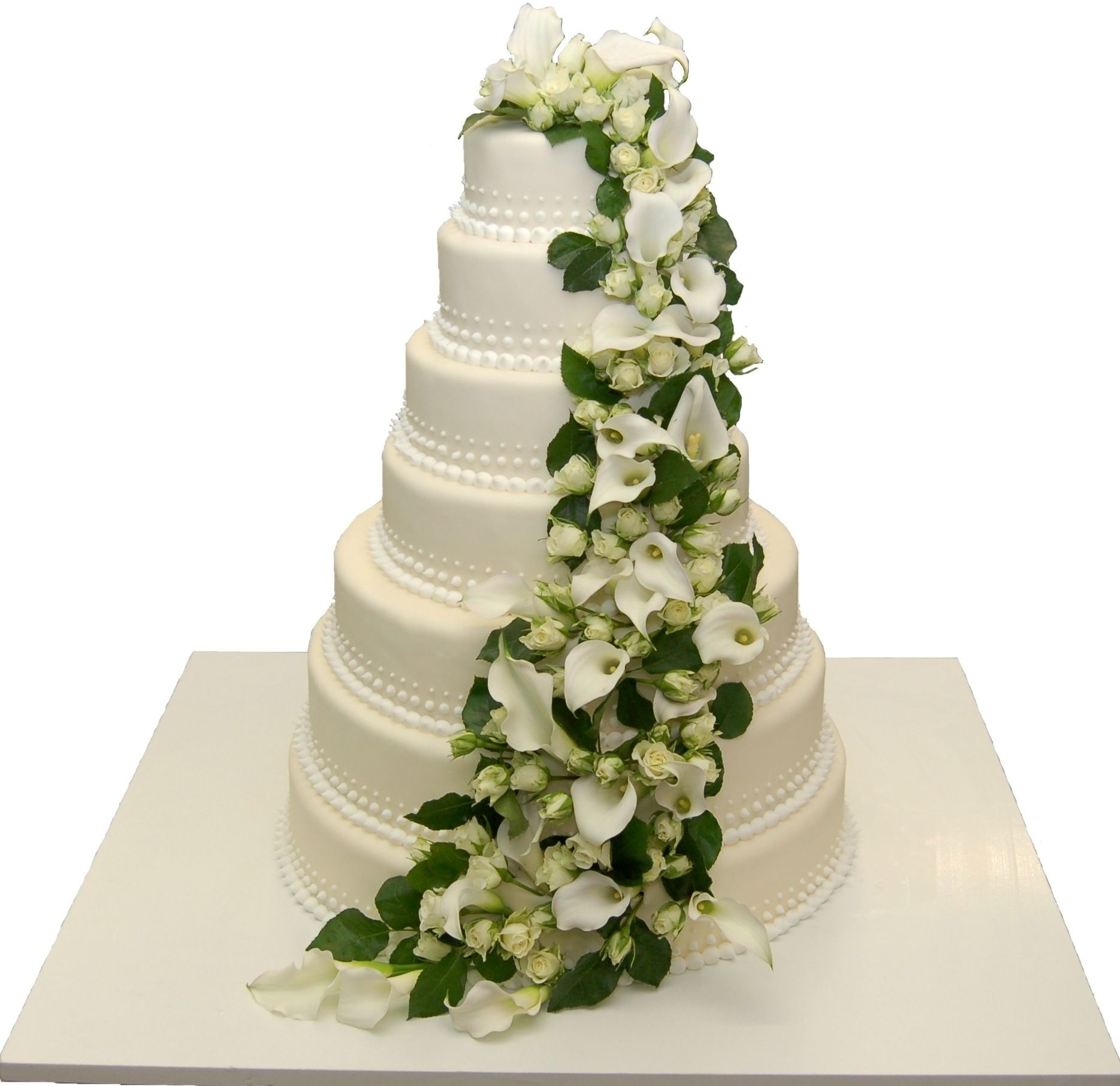 7 Stockige Hochzeitstorte Verziert Mit Echten Blumen