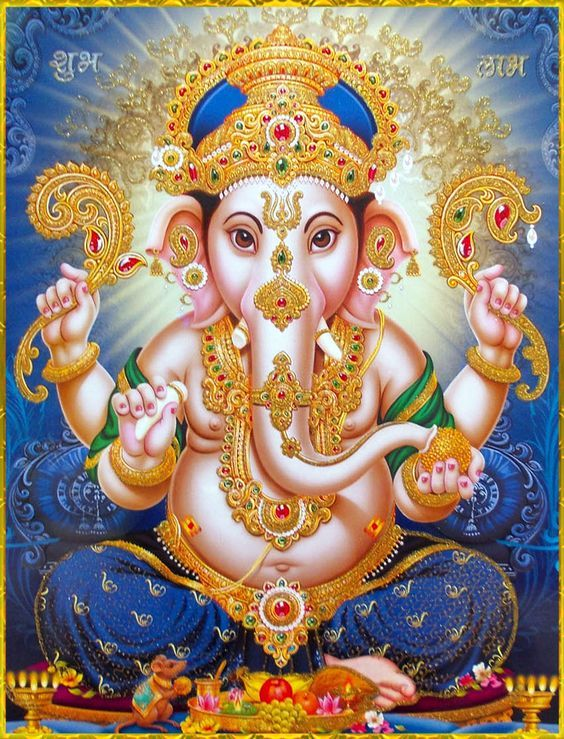 Ganesh mantra in hindi text book