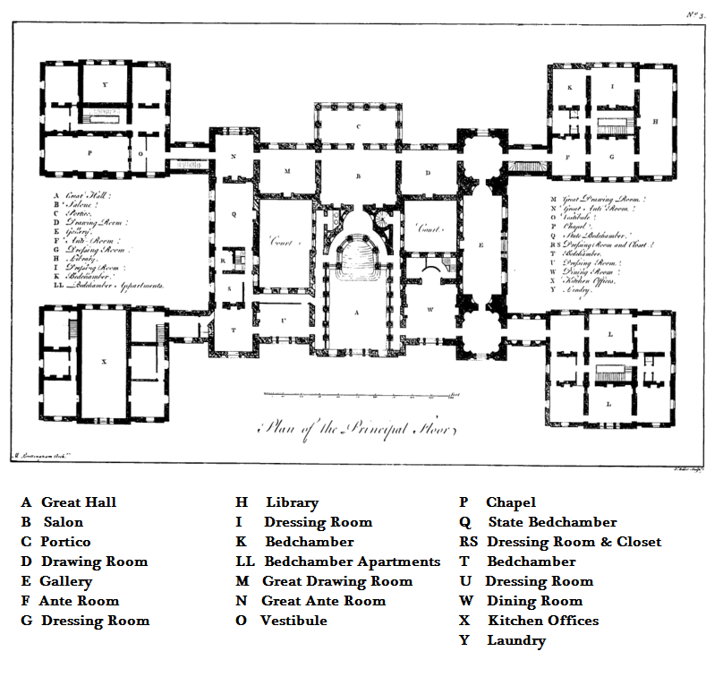 The Bones Of Holkham Hall How To Plan Architectural Floor Plans Hall Flooring