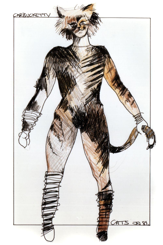Original costume design John Napier 1981 Cats the