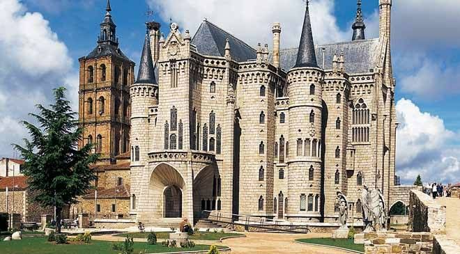 Image result for Astorga Episcopal Palace, Spain, 1915