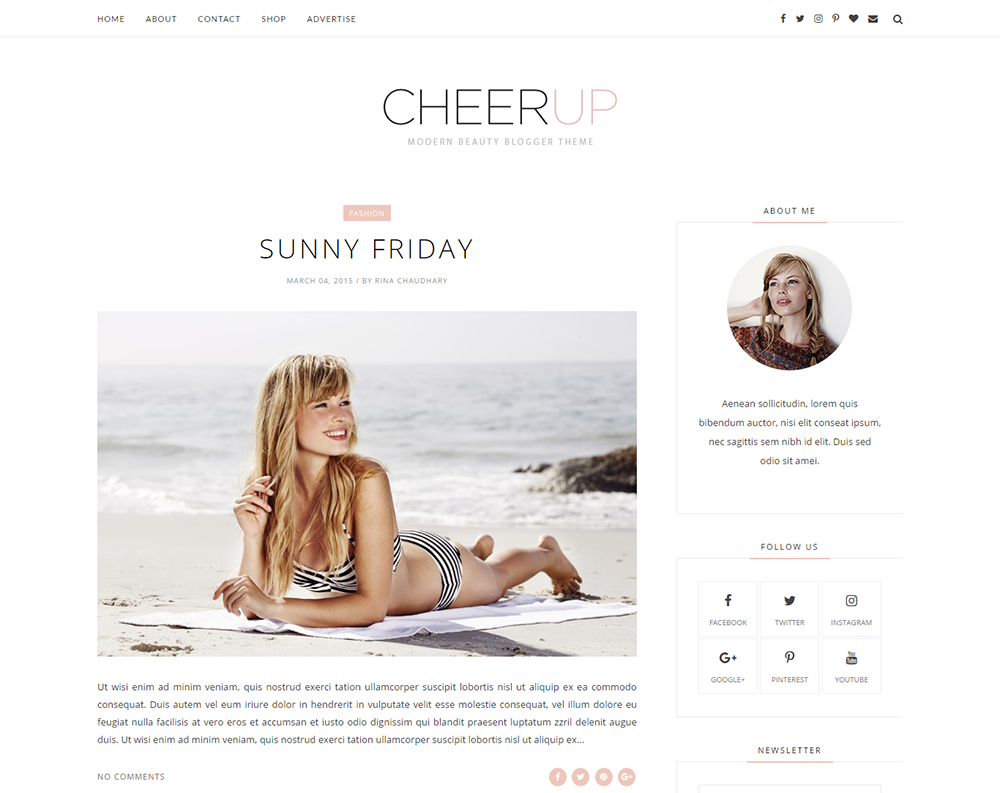 Cheerup Blogger Template Full Version Premium Themexpose Mezelf