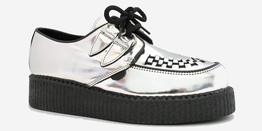 The Macbeth Creeper in Black and White Leather. SHOP NOW   UndergroundEngland  UndergroundShoes   1fb83a788be