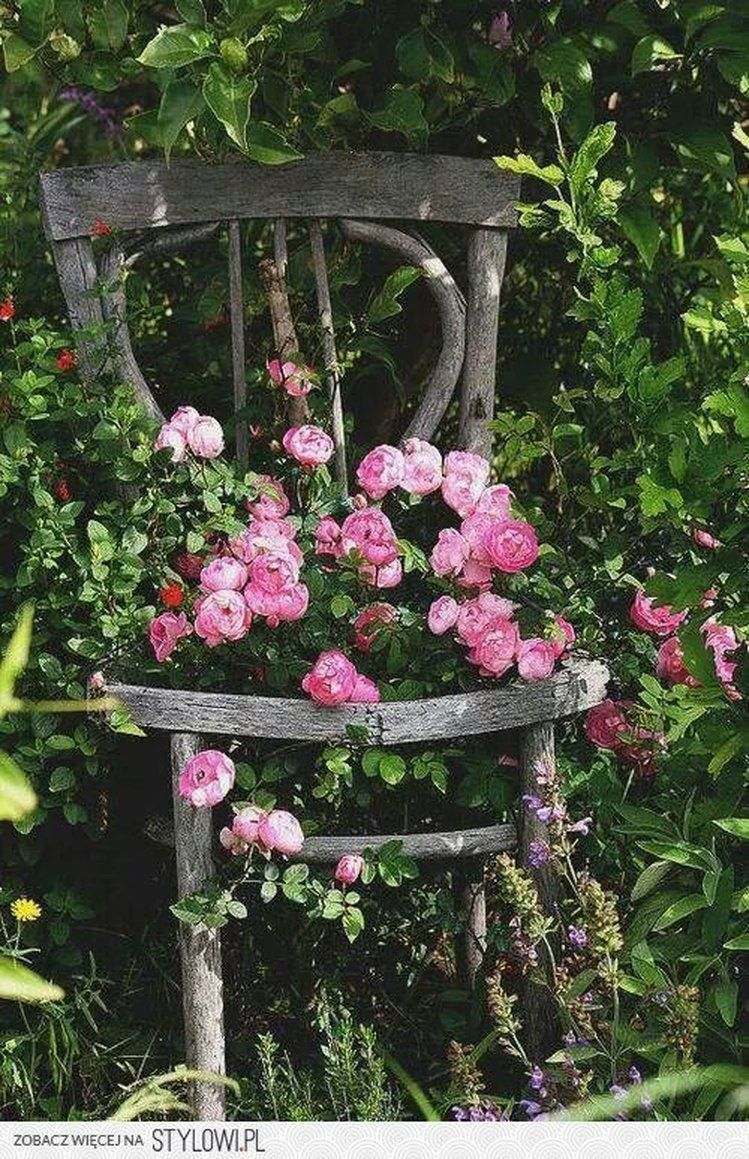 Dekoracje Do Domu Oraz Ogrodu Recipe Beautiful Gardens Cottage Garden Old Chair