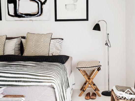 Zwart wit in de slaapkamer