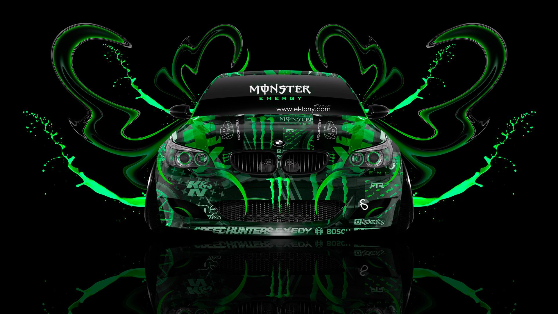 Monster Energy BMW M5 Front Plastic Acid Car
