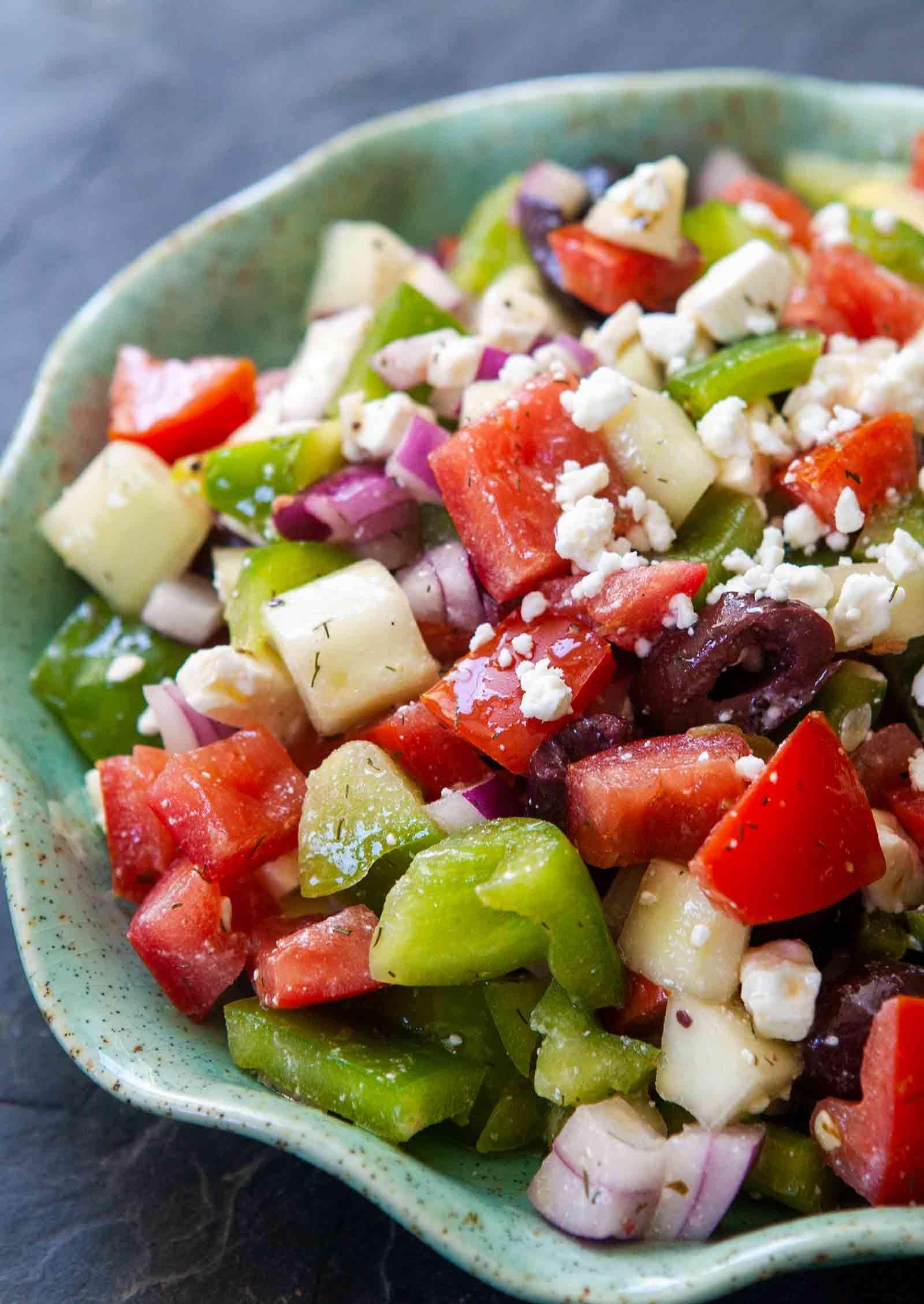 Easy Greek Salad Recipe Greek Salad Recipes Easy Greek Salad Recipe Greek Salad