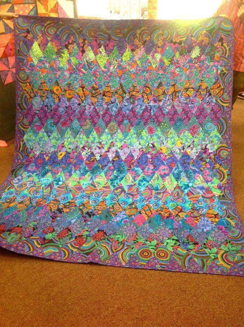 Kaffe Fassett Kyleigh Diamond African Quilts Blue