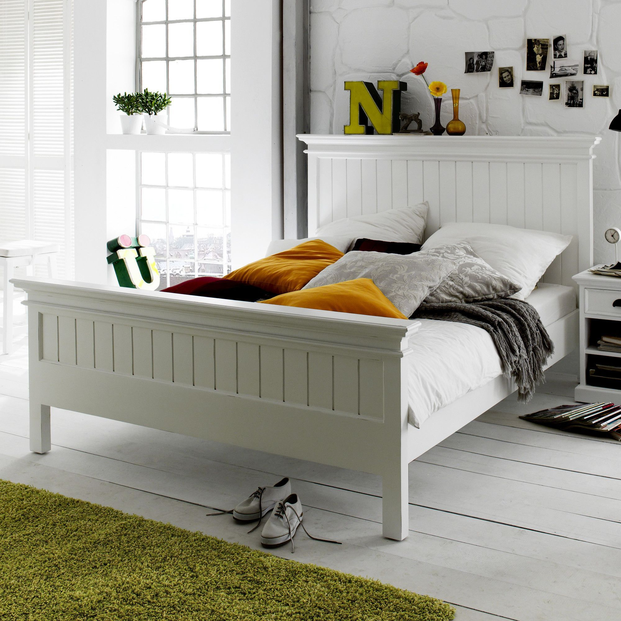 Halifax Panel Bed Queen bed frame, Bed styling, Bed frame
