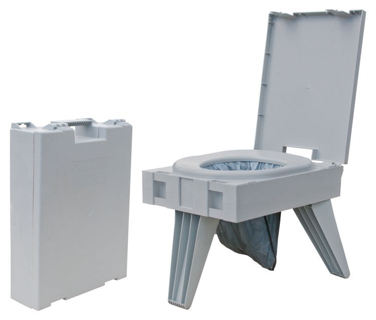 "The PETT® (Portable Environmental Toilet) | Bass Pro Shops // Customer SuzieOutdoors says: ""I would recommend this item to anyone! Lightweight, no mess, no hassle. This could not be any easier to clean! Just pull out the WAG bag, and you are done. I also like that it is inconspicuous when closed. Don't worry its strong and stable."" #portabletoilet #camping #glamping"