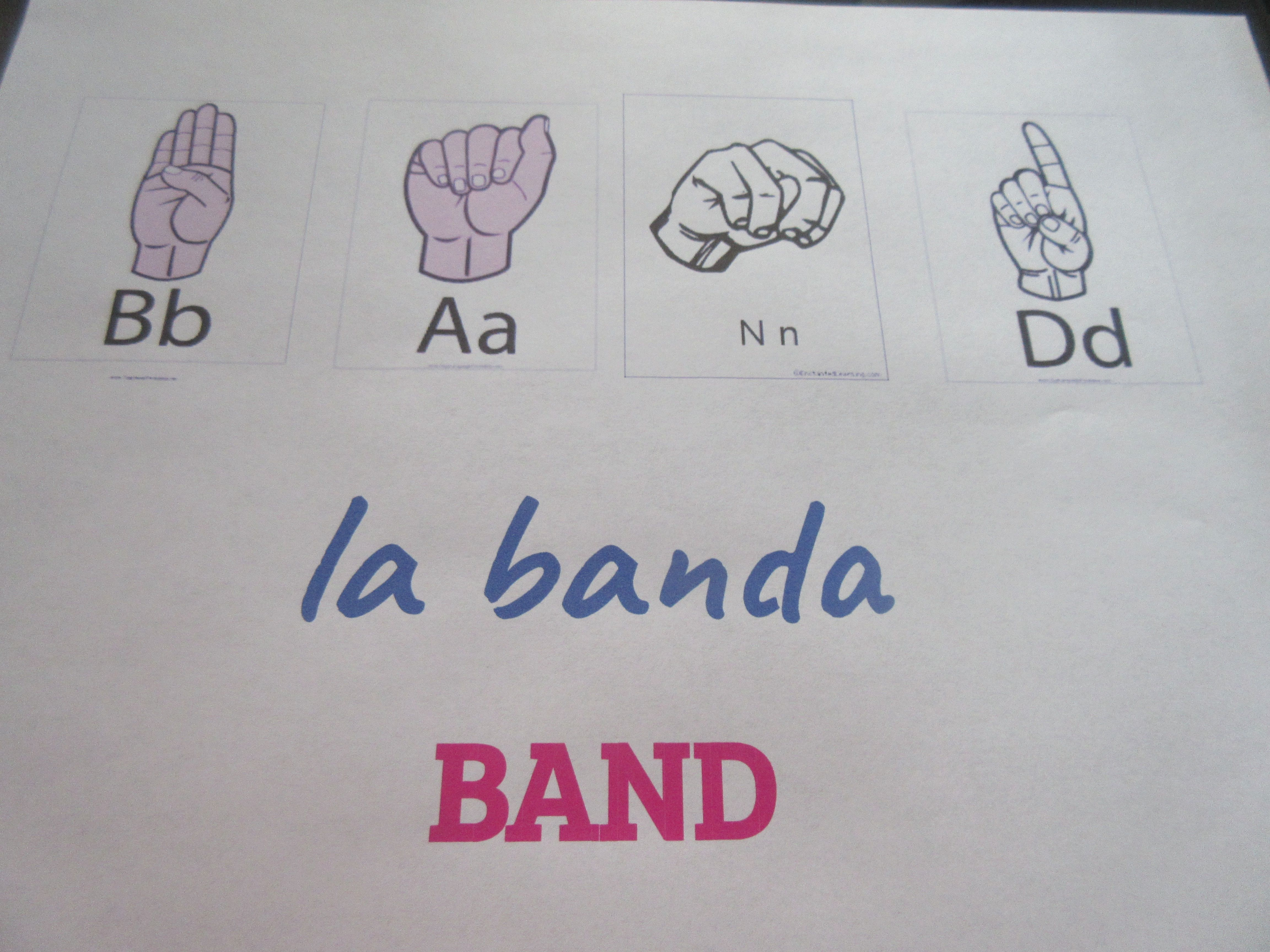 Asl And Spanish Band Room Sign To Hang Outside My Classroom Draft Languages Asl Spanish Room Signs Band Rooms Home Decor