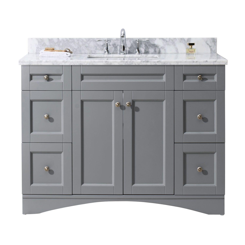 Virtu Usa Elise 48 Single Bathroom Vanity Vanity Marble Vanity