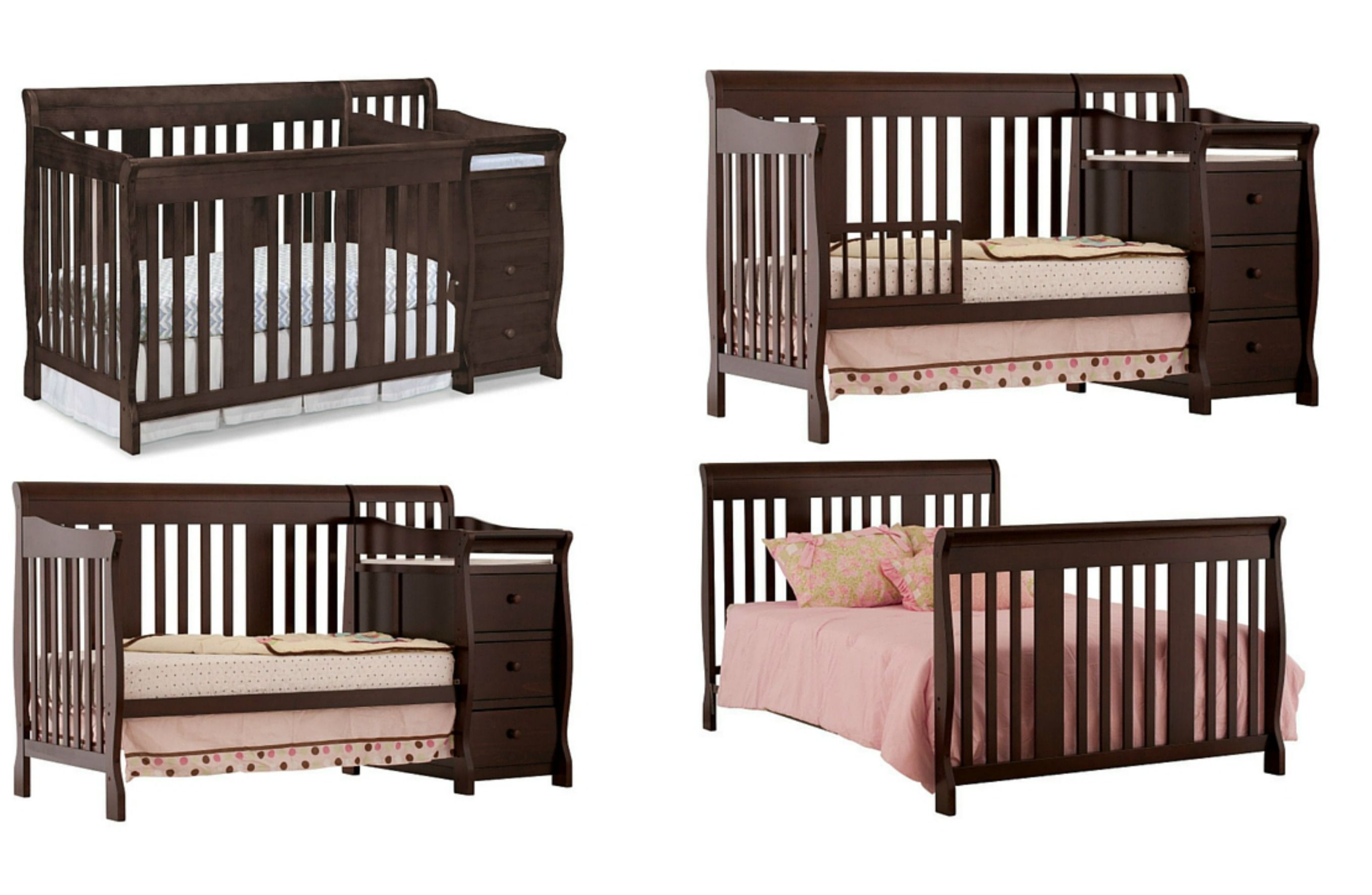 crib london toddler for rail bed luxury guard cribs delta select child craft of cherry parisian rails lovely convertible