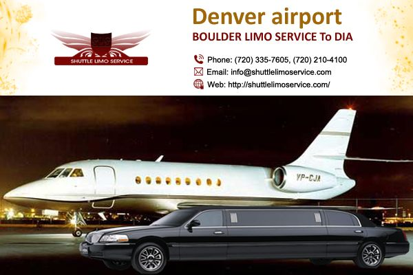 Boulder Limo Service transfer you to and from DIA in style and more comfort way using our luxurious fleet and friendly chauffeurs. http://goo.gl/Nt8RS1