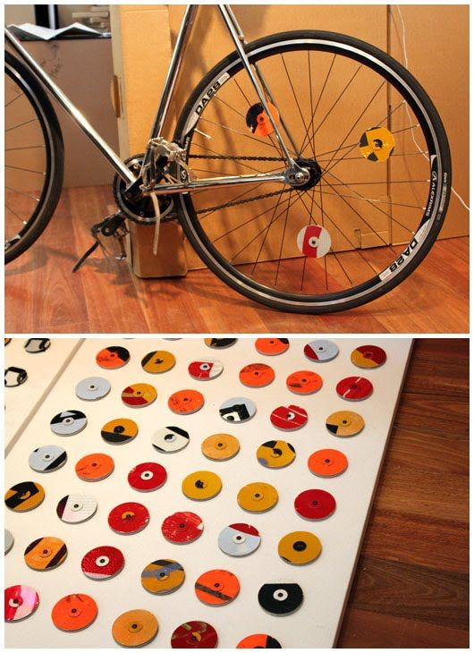 Neat Idea Bike Reflectors Made Out Of Old Road Signs Urban