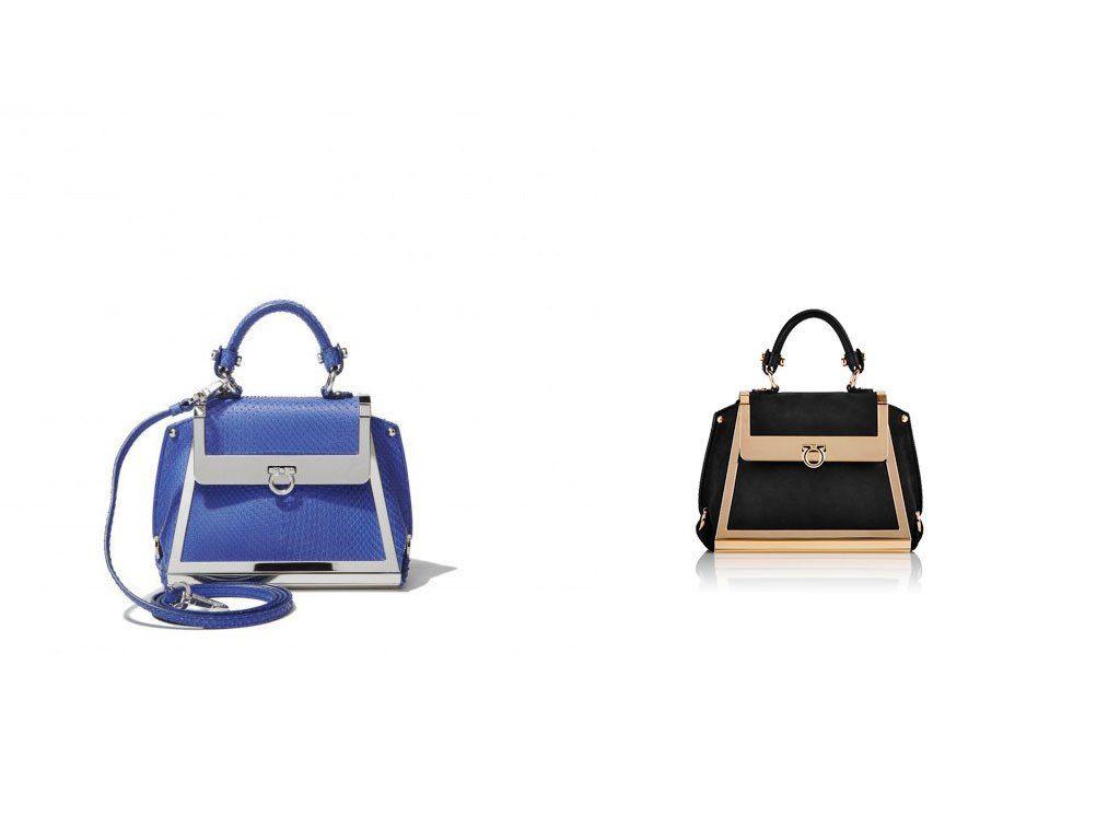 705ceca7e193 Salvatore Ferragamo Blue Python Sofia Mini Bag