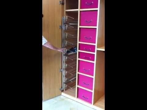Zapatero lateral extraible para armario vestidores - Zapatero para armario ...
