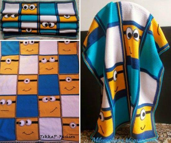 Minion Granny Square Pattern Blanket Pinterest Best Ideas