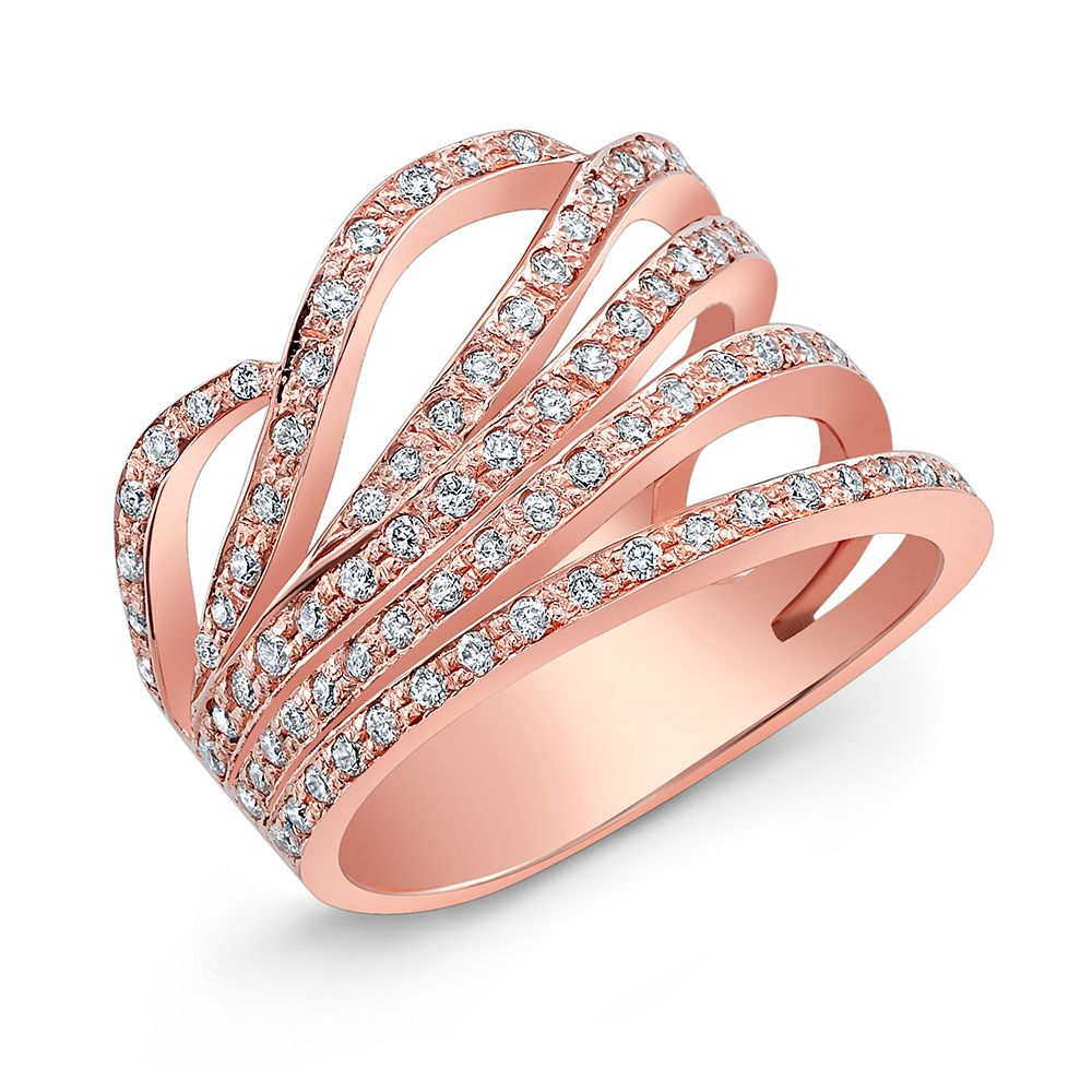 Classic Caladium Pink. Fine Jewelry Ring 18 kt rose gold and ...