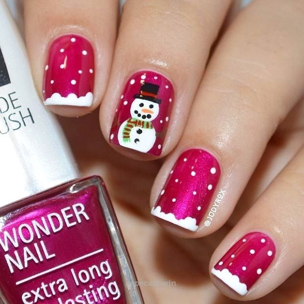 Cute Christmas Nail Designs Pinterest Papillon Day Spa