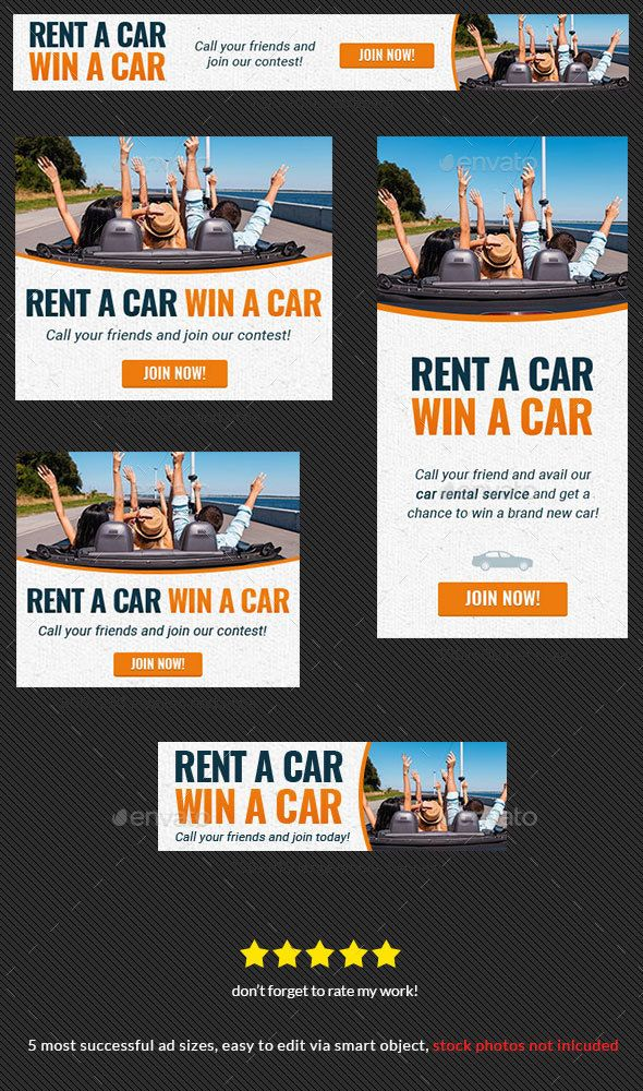 Car Rental Web Banner Ad Web banners, Banners and Ads - car ad template